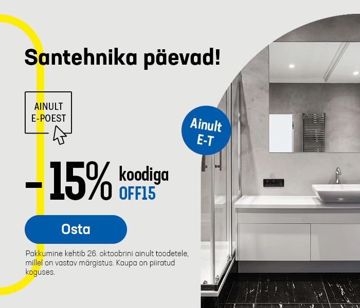 Santehnika päevad! -15% koodiga OFF15