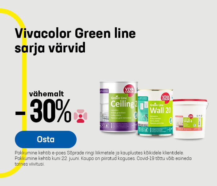 Vivacolor Green line sarja värvid vähemalt -30%