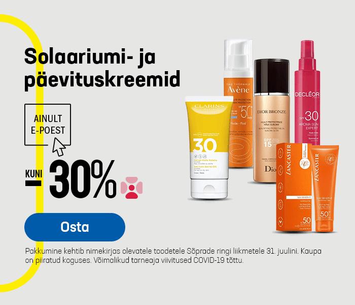 Solaariumi- ja päevituskreemid kuni -30%