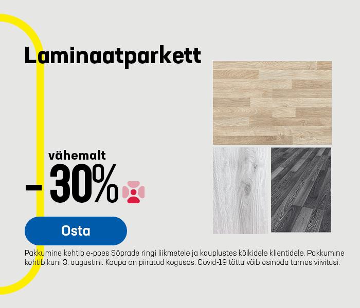 Laminaatparkett vähemalt -30%