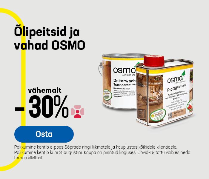 Õlipeitsid ja vahad OSMO vähemalt -30%