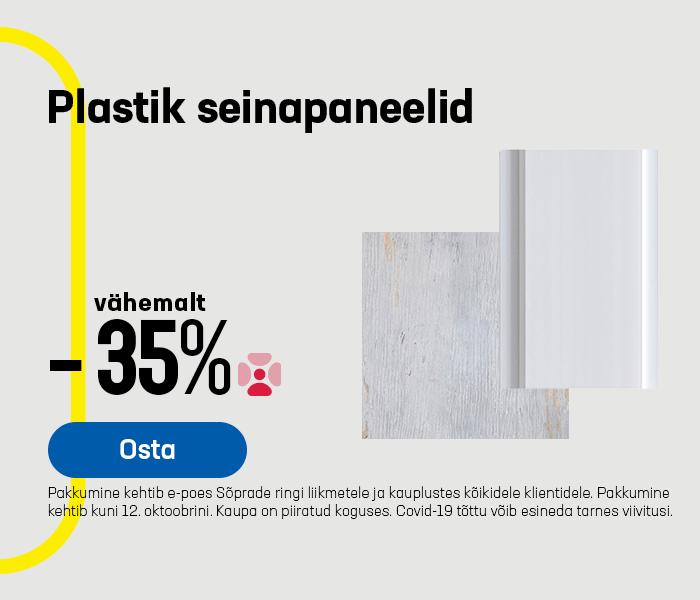 Plastik seinapaneelid vähemalt -35%