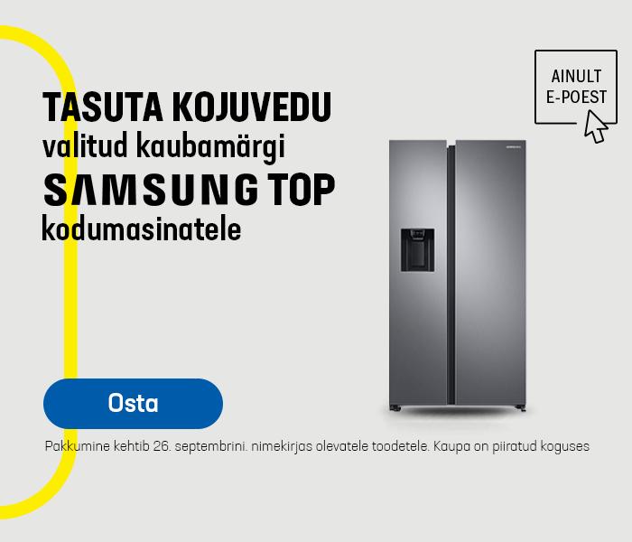 Tasuta kojuvedu valitud Samsungi kodumasinatele