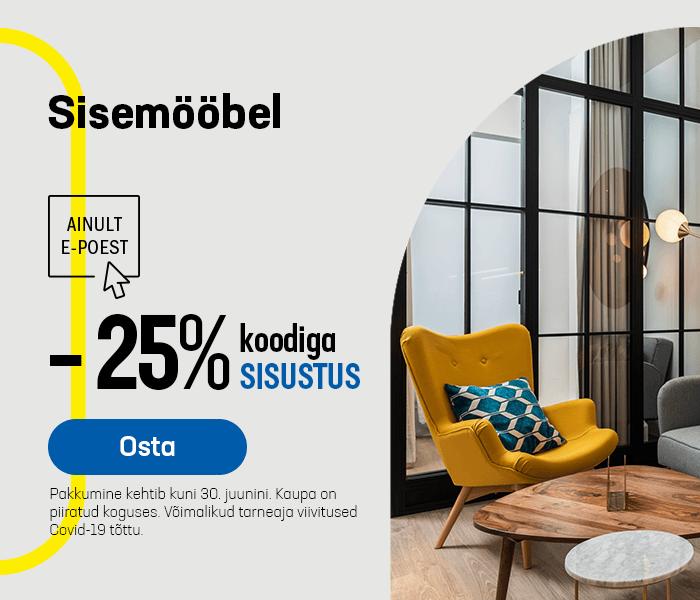 Sisemööbel -25% koodiga SISUSTUS
