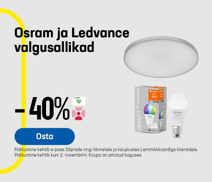 Osram ja Ledvance valgusallikad -40%