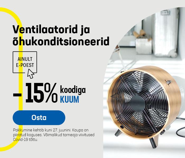 Ventilaatorid ja õhukonditsioneerid -15% koodiga KUUM