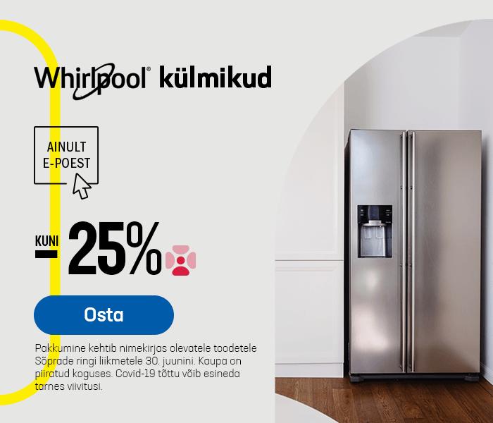 Whirlpool külmikud kuni -25%
