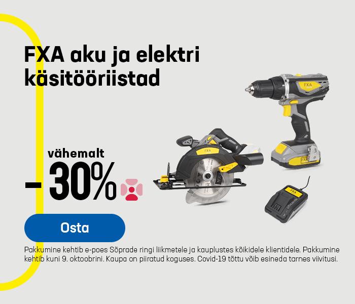 FXA aku ja elektri käsitööriistad vähemalt -30%