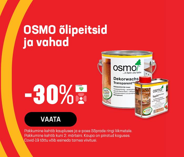 OSMO õlipeitsid ja vahad -30%