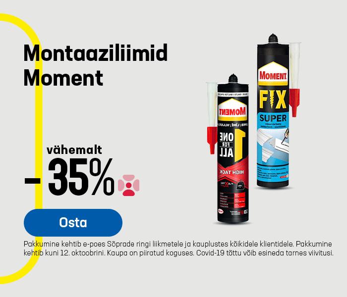 Montaaziliimid Moment vähemalt -35%
