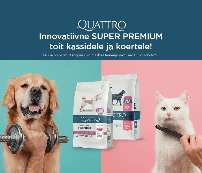 Innovatiivne super premium toit kassidele ja koertele!