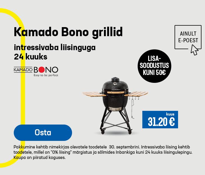 Kamado Bono grillid intressivaba liisinguga 24 kuuks