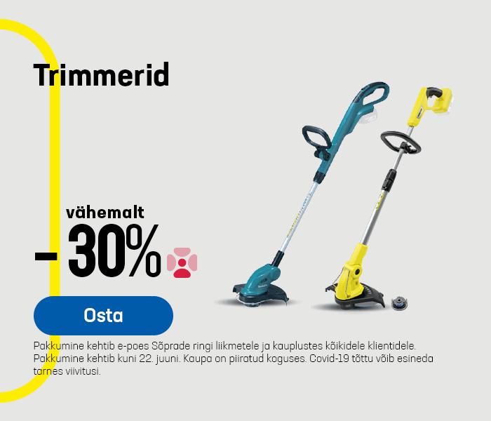 Trimmerid vähemalt -30%