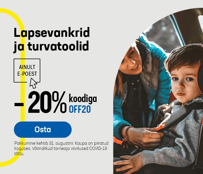 Lapsevankrid ja turvatoolid -20% koodiga OFF20