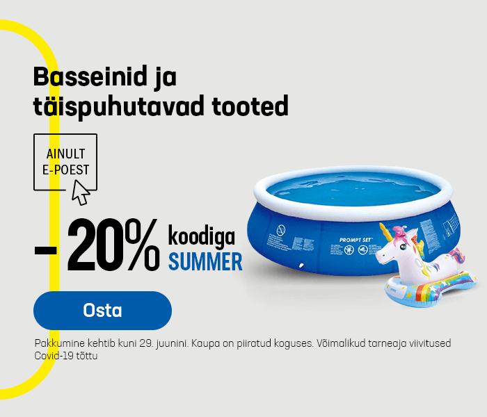 Basseinid ja täispuhutavad tooted -20% koodiga SUMMER