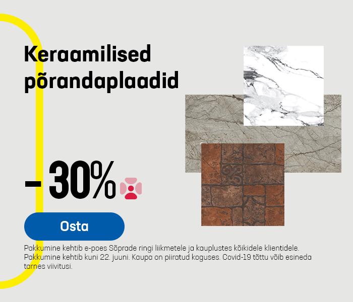 Keraamilised põrandaplaadid -30%