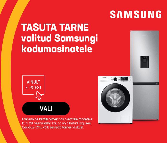 Tasuta tarne valitud Samsungi kodumasinatele
