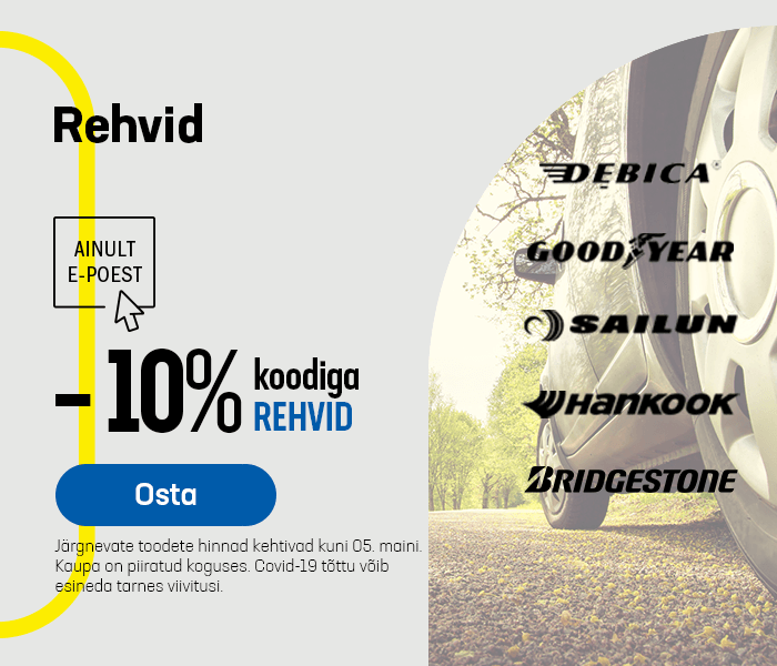 Rehvid -10% koodiga REHVID