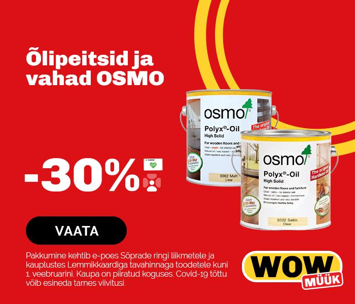 Õlipeitsid ja vahad OSMO -30%