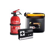 Degvielas tvertnes, aptieciņas, ugunsdzēšamie aparāti