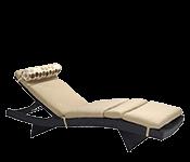 Sauļošanās krēsli, gultas un zviļņi