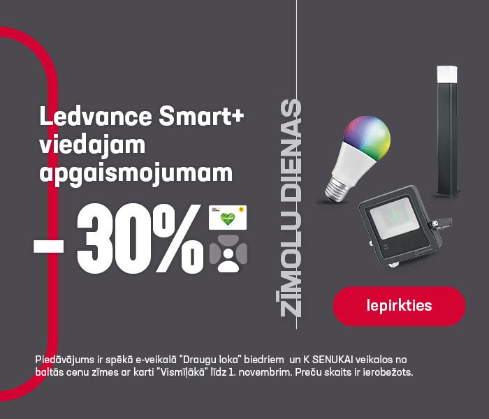 Ledvance Smart+ viedajam apgaismojumam -30%