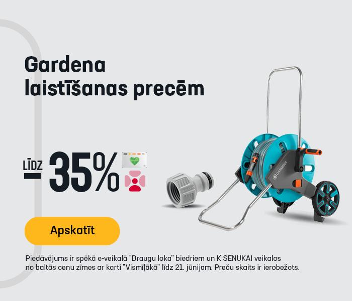 Gardena laistīšanas precēm līdz -35%