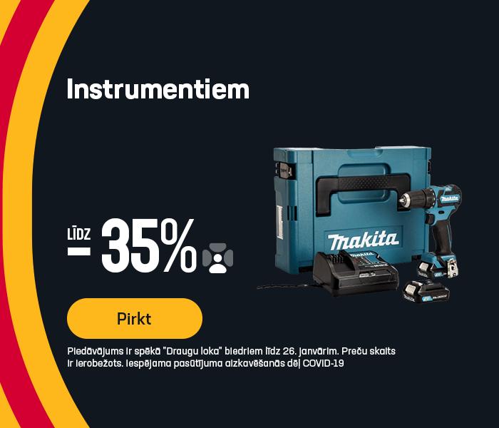 Instrumentiem atlaides līdz 35%