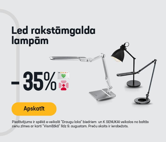 LED rakstāmgalda lampām -35%