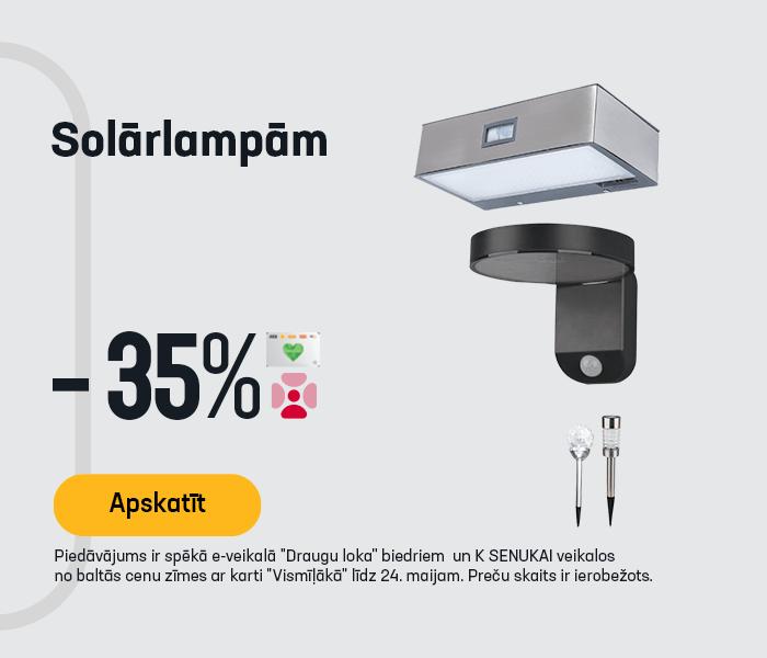 Solārlampām -35%