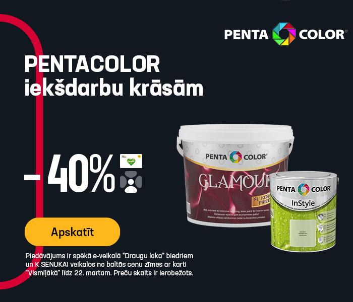 Pentacolor iekšdarbu krāsām -40%