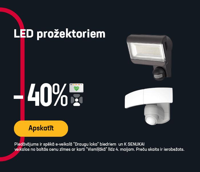 LED prožektoriem -40%