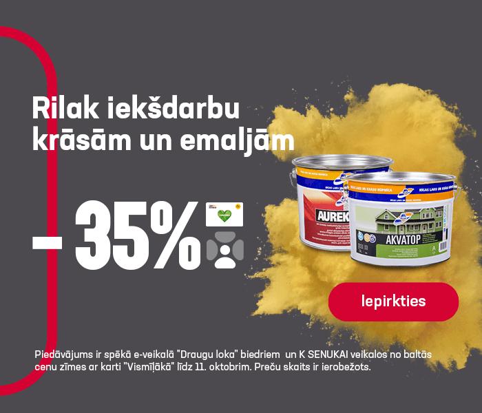 Rilak iekšdarbu krāsām un emaljām -35%