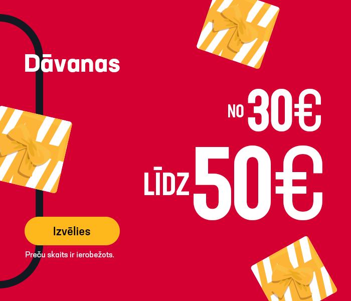 Dāvanas no 30 līdz 50 EUR