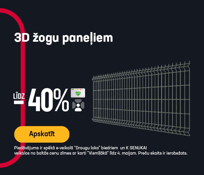 3D žogu paneļiem līdz -40%