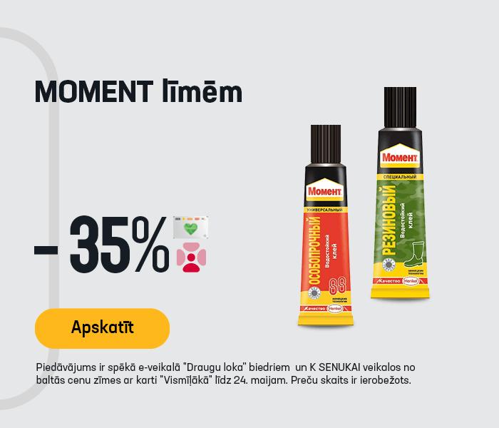MOMENT līmēm -35%