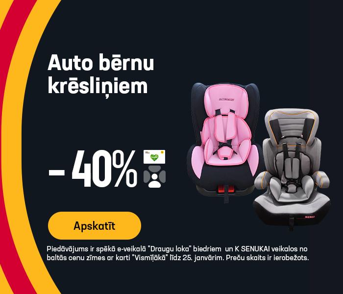 Auto bērnu krēsliņiem -40%
