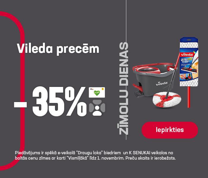 Vileda precēm -35%