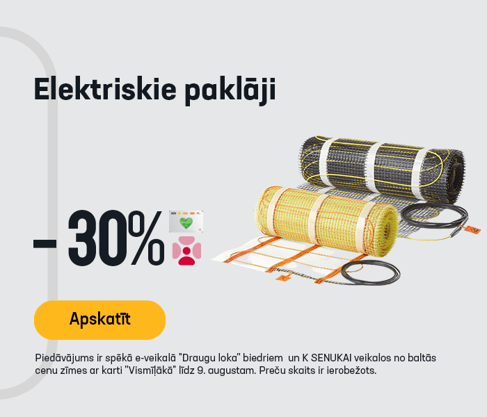 Elektriskie paklāji -30%