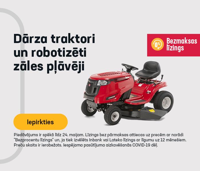 Dārza traktori un robotizēti zāles pļāvēji! 12 mēnešu bezprocentu līzings