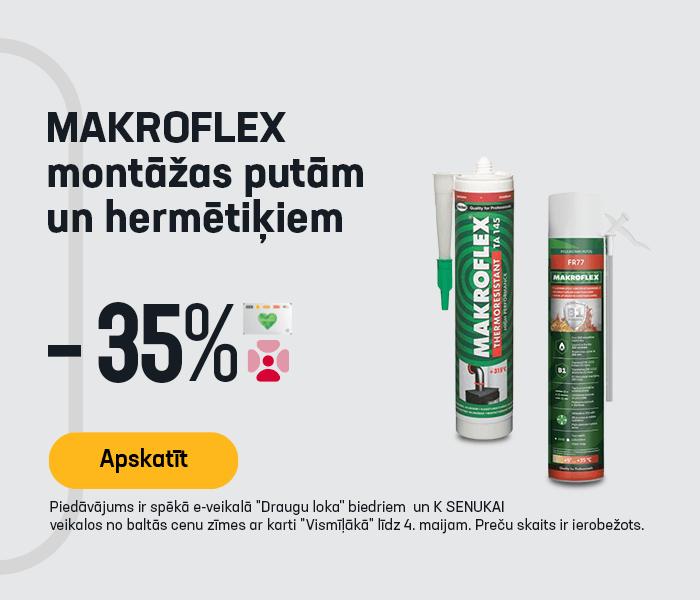 MAKROFLEX montāžas putām un hermētiķiem -35%