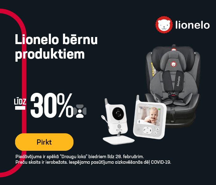 Lionelo bērnu produktiem līdz -30%