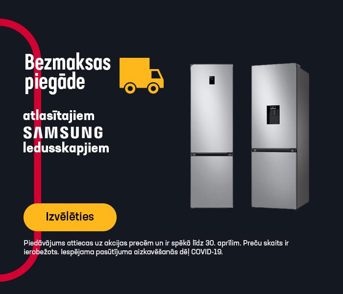 Bezmaksas piegāde atlasītajiem SAMSUNG ledusskapjiem