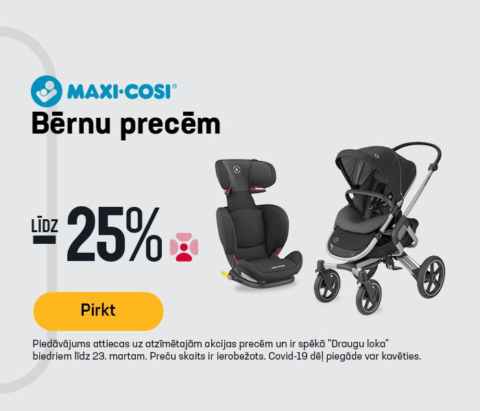 Maxi-Cosi bērnu precēm līdz -25%