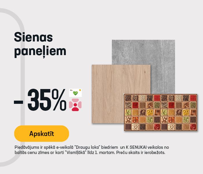 Sienas paneļiem -35 %