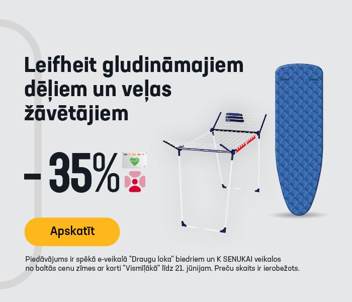 Leifheit gludināmajiem dēļiem un veļas žāvētājiem -35%