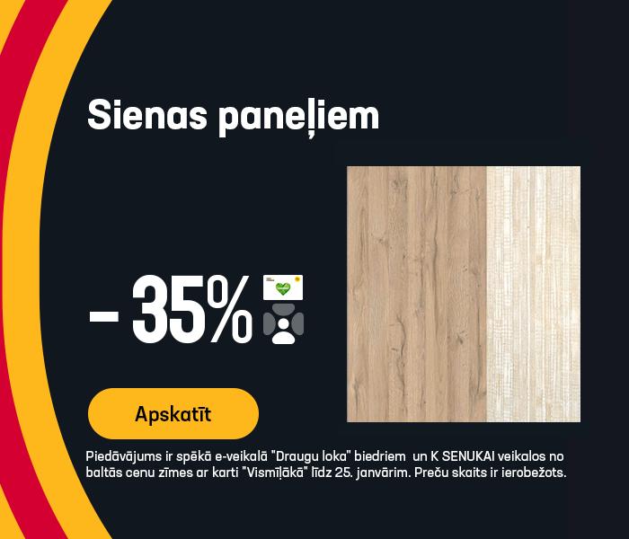 Sienas paneļiem -35%