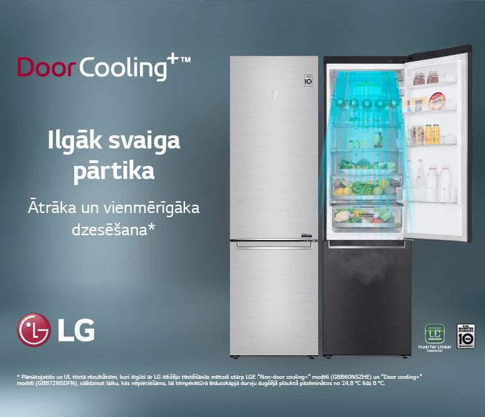 Ledusskapji LG WM AI DD & LG REF V+ DoorCooling