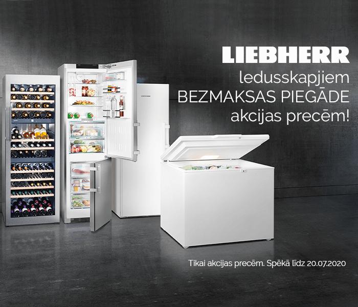 Bezmaksas piegāde atzīmētajiem Liebherr ledusskapjiem