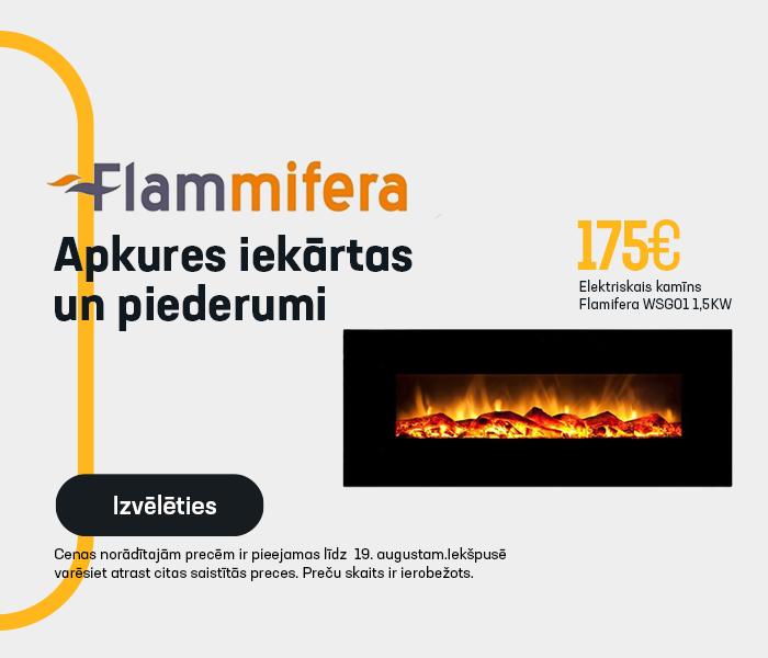 FLAMMIFERA - apkures iekārtas un piederumi